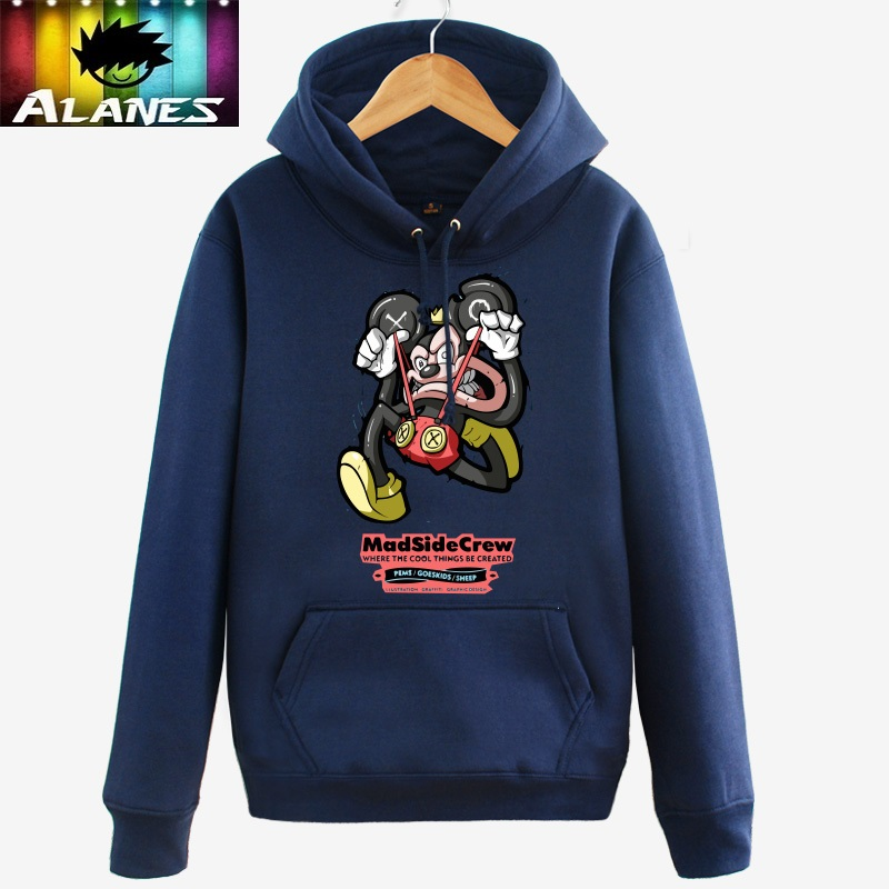 Spring and autumn disto mickey minnie mouse hooded sweater hedging korean men and women couple dress stream anime clothes coat