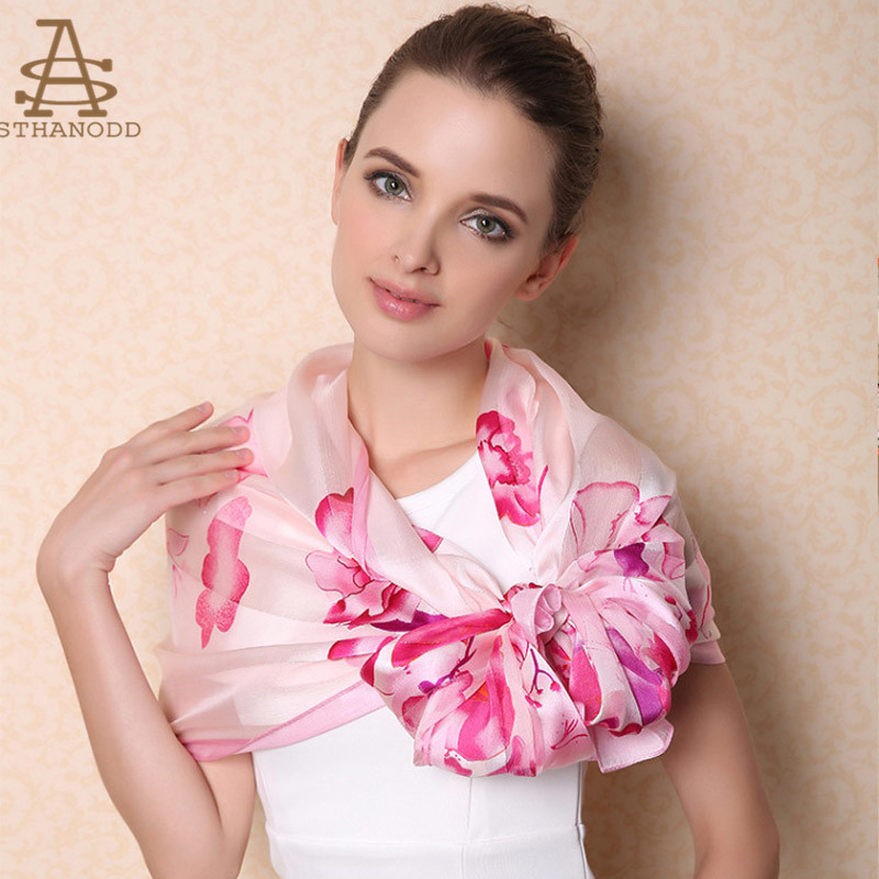 50b53862c Get Quotations · Spring and autumn japanese sweet little fresh printing  sthanodd bijianuotuo silk scarf silk scarves long section