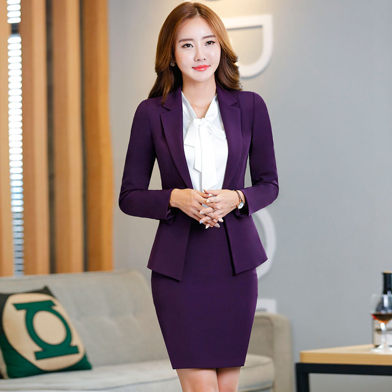 00556b53724 Get Quotations · Spring and autumn ladies wear skirt suits ol suit overalls  interview dress fashion ladies temperament business