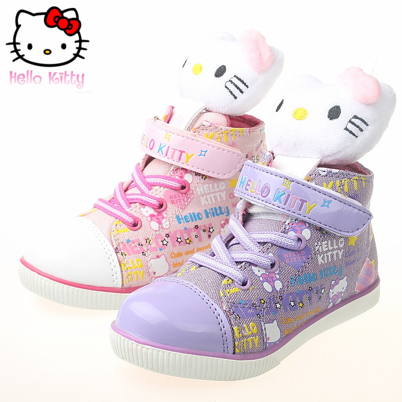 Spring and autumn new cartoon hello kitty girls shoes small boy casual shoes canvas shoes sneakers i39650