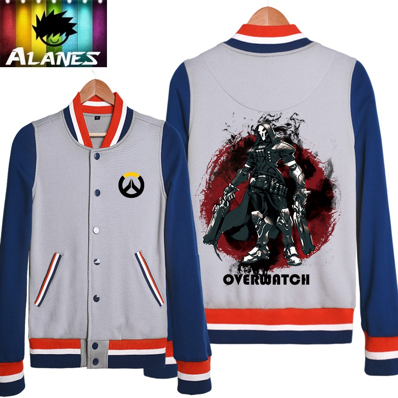 Spring and autumn rye pioneer hanzo death genji baseball uniform baseball shirt sweater coat clothes tide male and female game