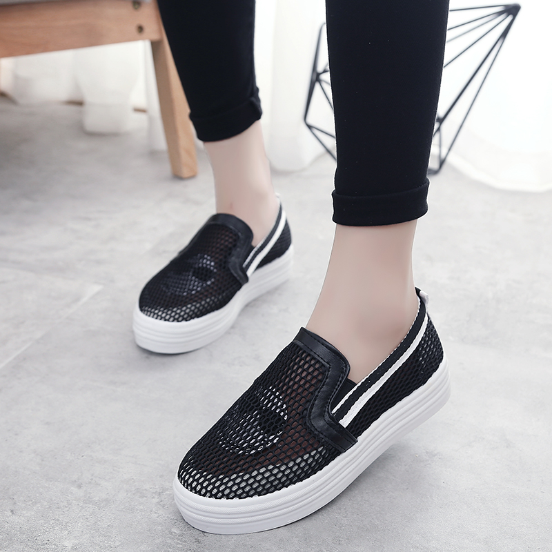 Spring and summer mesh breathable mesh shoes women shoes women shoes carrefour shoes women shoes single mesh hollow flat shoes lazy shoes muffin shoes