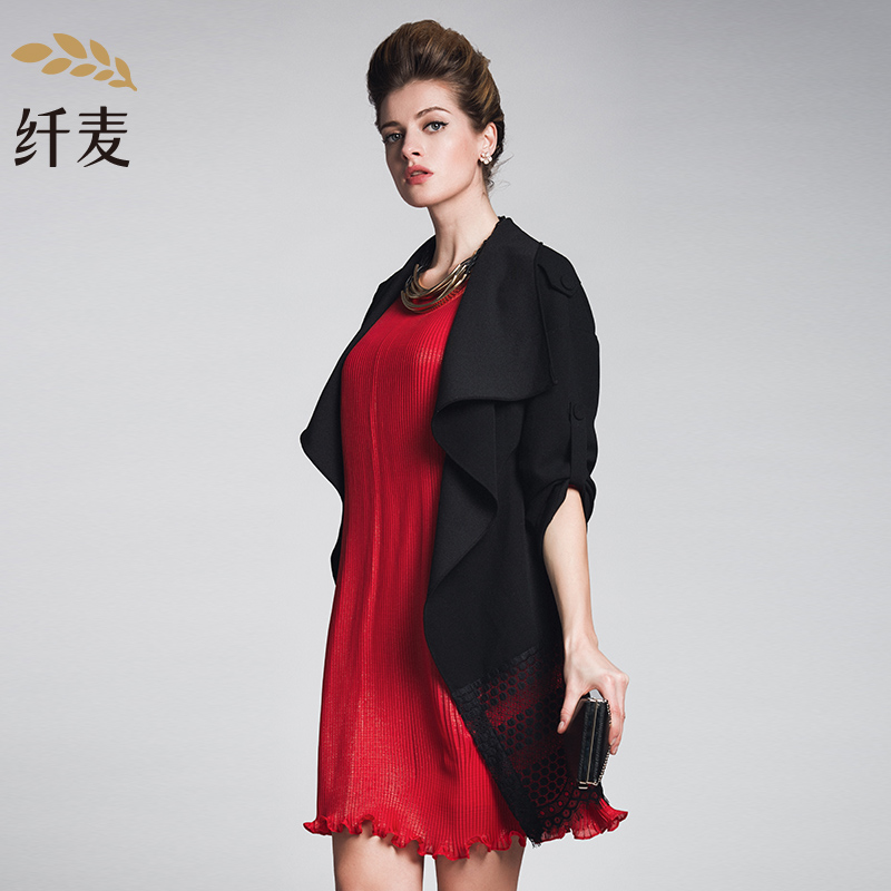 Spring jacket/coat paragraph mecca single piece of conventional polyester printing large size women loose dress shirt