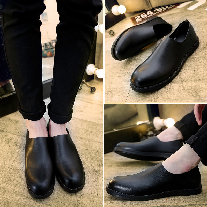 Spring men's shoes lazy driving shoes peas shoes british style small leather shoes breathable casual shoes fashion shoes tide shoes loafers