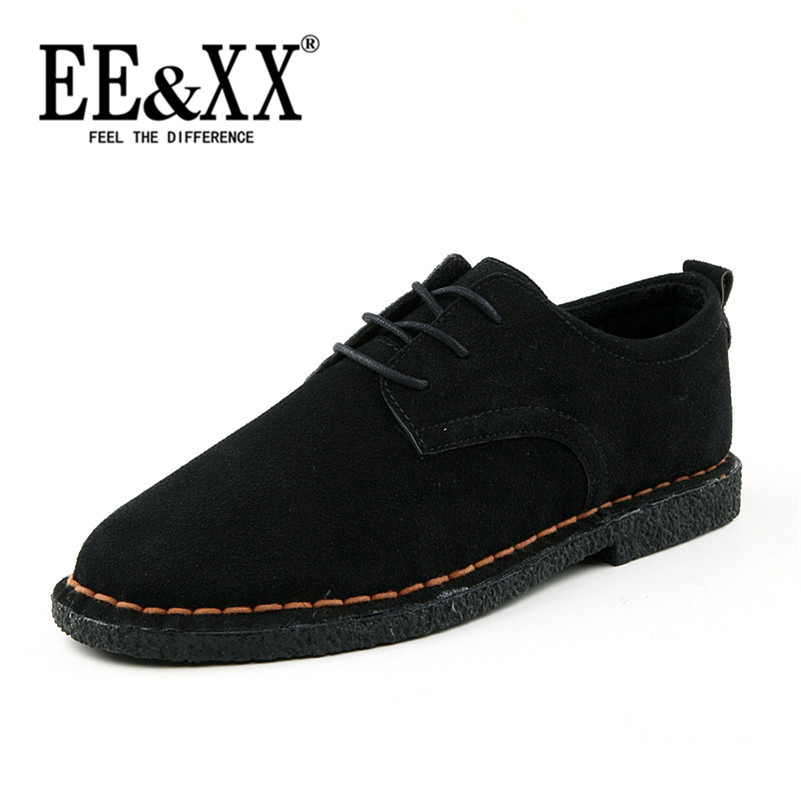 Spring new men to help low EEXX2016 youth suede shoes spell color shoes men's comfort casual shoes lace shoes 8599