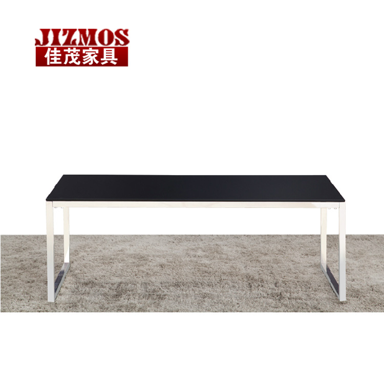 Square combination herculite modern simple casual long glass coffee table minimalist fashion creative black