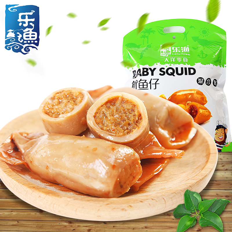 Squid fishing le chai 315g shipping more flavors mixed bag combination of instant seafood squid aberdeen dalian specialty