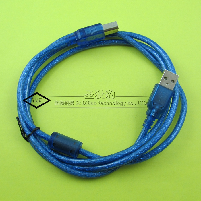 St. di leopard | usb 2.0 printer cable printer data cable high speed side port usb printer cable printer cable 1.5 M