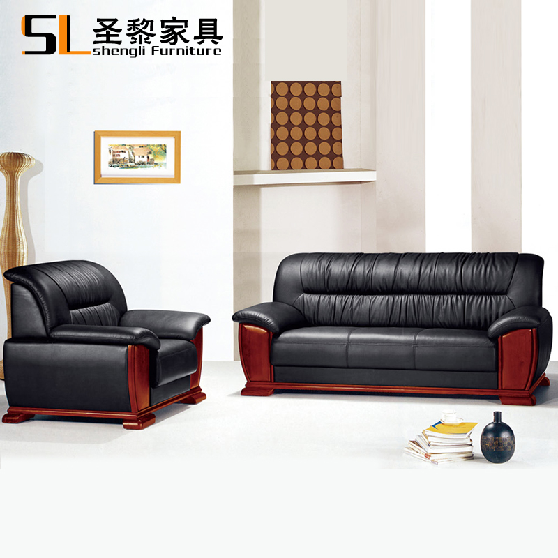 St. li office furniture cowhide leather sofa leather sofa reception room to discuss sofa three bits 618