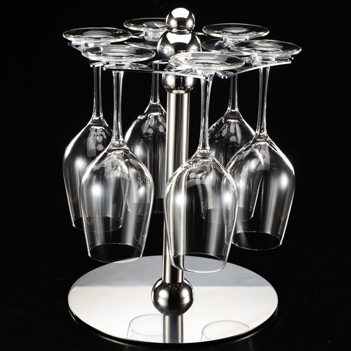 Stainless steel stemware rack hanging cup holder wine rack hanging upside down cup holder wine wine cup holder free shipping