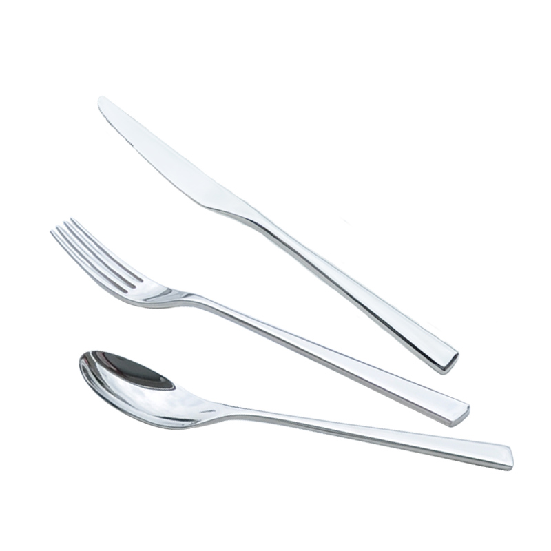 Stainless steel tableware western knife and fork spoon three sets of western cutlery set fork spoon kitchen cutlery