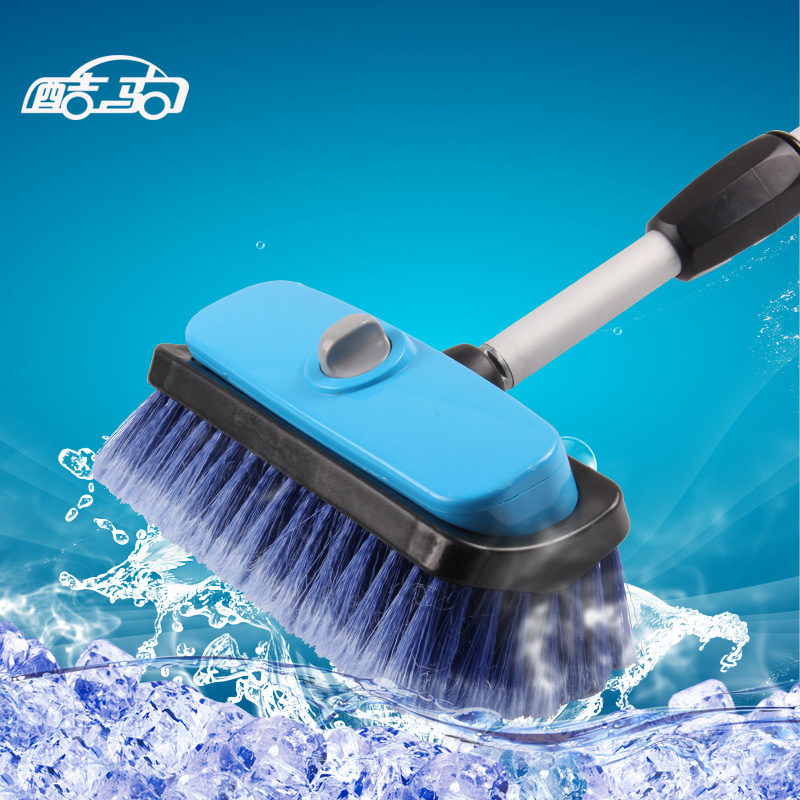 State quite buses mop telescopic pole handle water-jet foam brush car wash brush through the water brush car cleaning supplies automotive beauty