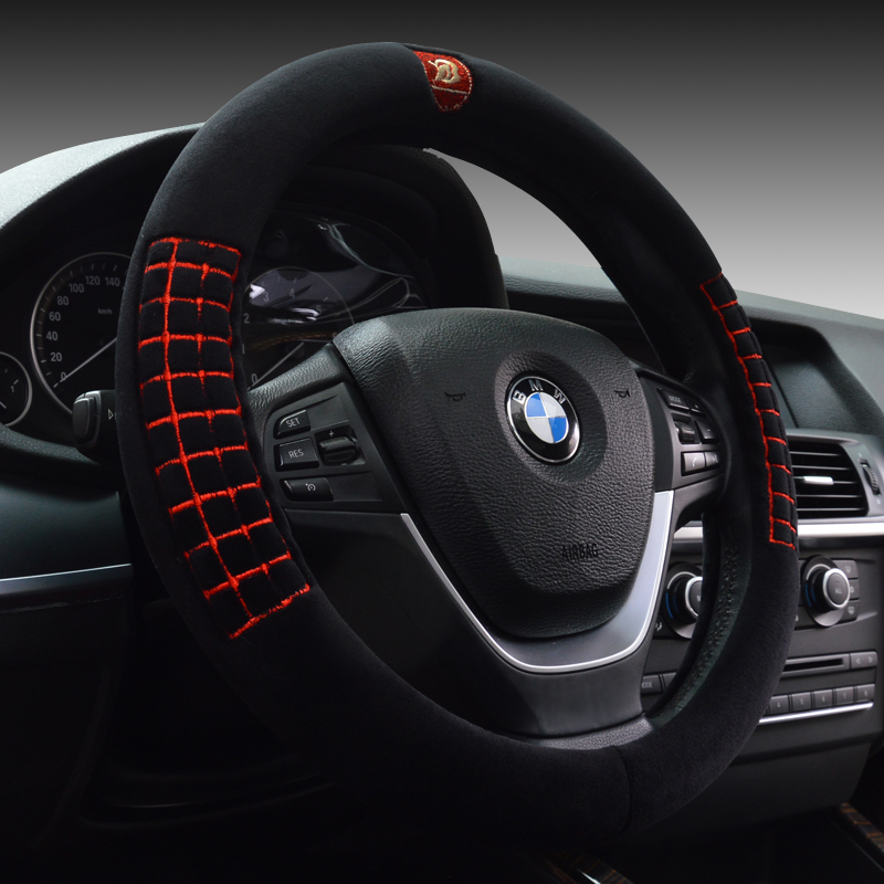 Steering wheel cover in winter plush car to cover applicable toyota rav4 carlo lacaille camry vios corolla reiz