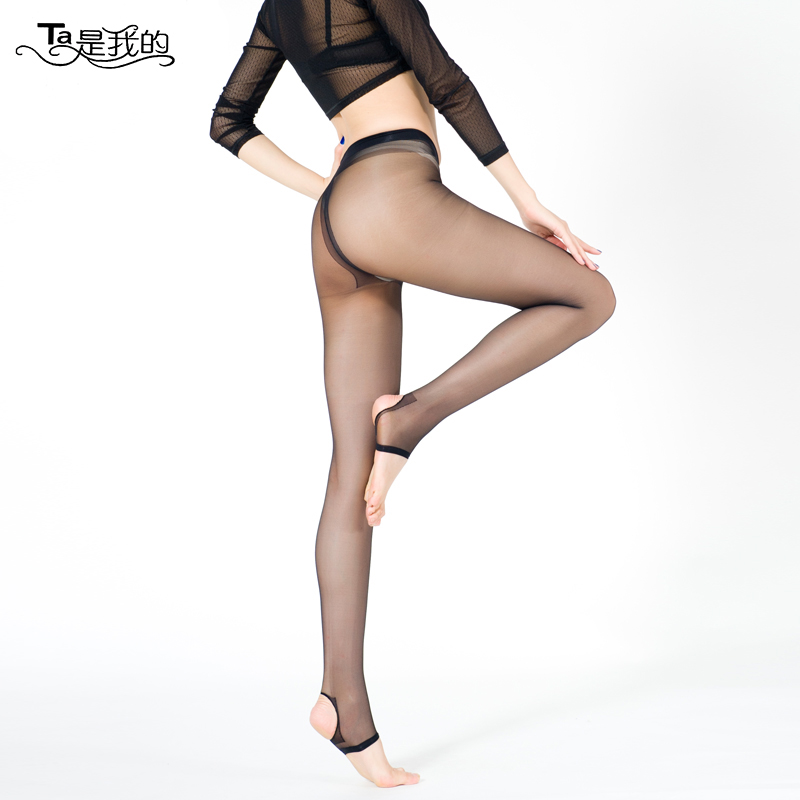 Step foot stockings anti hook wire t crotch pantyhose slim female summer thin section ms. sexy plus crotch pantyhose cored wire Socks