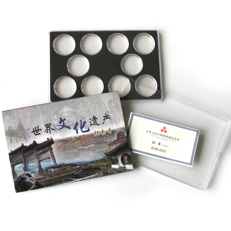 Stephen world heritage commemorative coins 10 holes box. heritage commemorative coins professionals with a small gift box