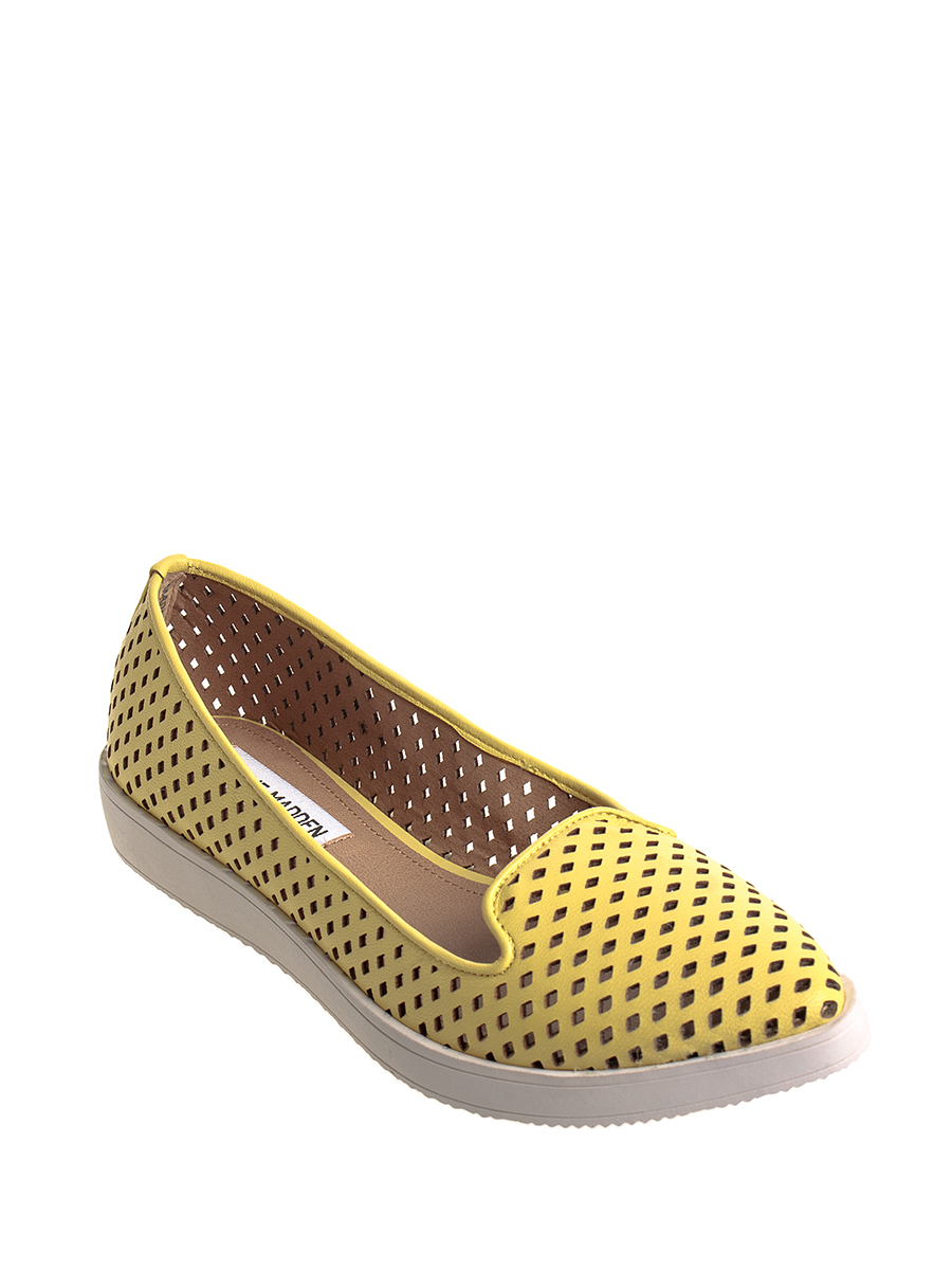 Steve madden/simei gordon yellow diamond hollow casual shoes