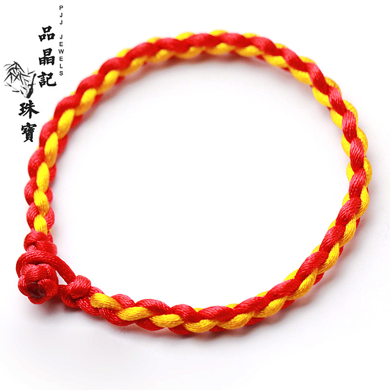 Students red rope hand woven bracelet hand rope natal male and female couple bracelets korean version of china wind family