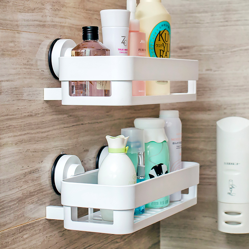 Sucker shelf bathroom shelf bathroom shelving racks wall toilet kitchen wall suction storage rack shelving