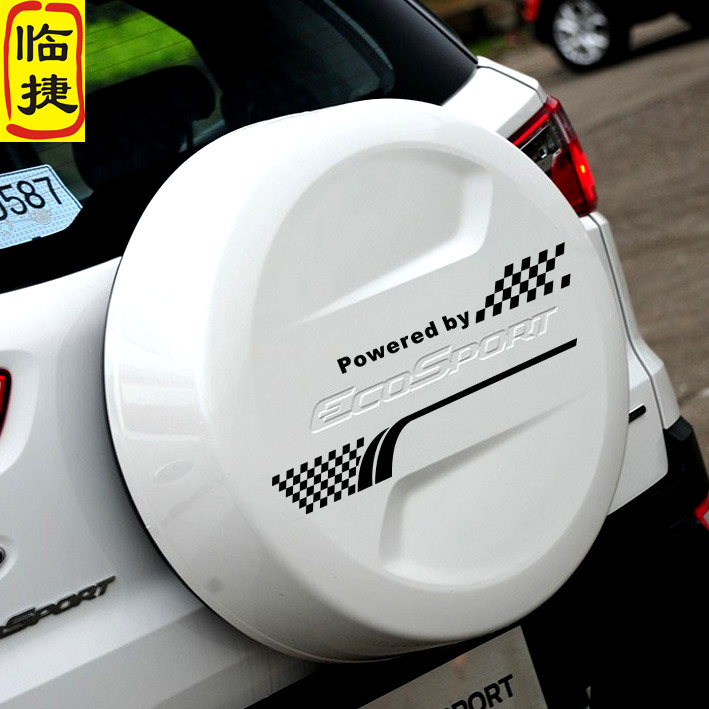 Suitable for use spare tire cover stickers car stickers applicable ford escape wing bo car stickers pull flower personality reflective car decoration