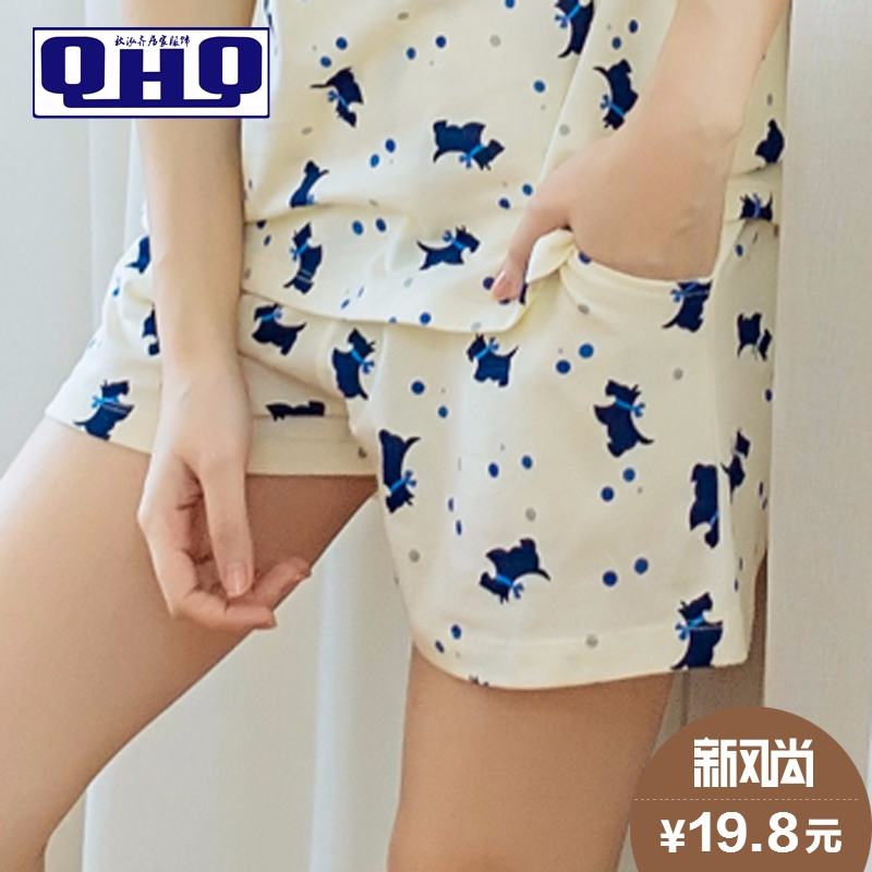 Summer home pants loose cotton pajamas female summer shorts ladies shorts shorts korean version of the thin section summer air conditioning pants