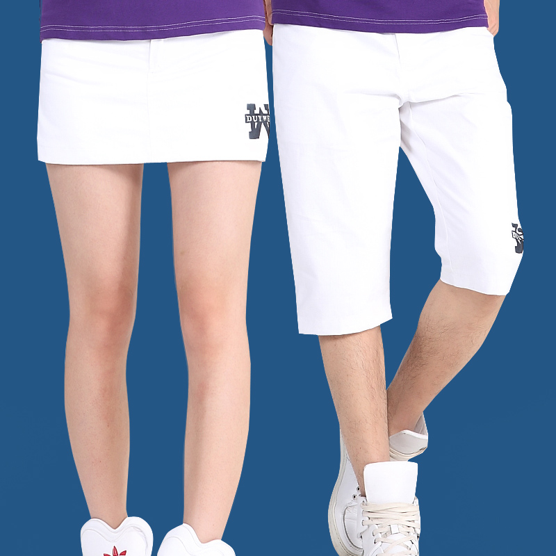 Summer lovers casual beach pants 5 points shorts adolescent male solid color cotton slim korean female shorts culottes