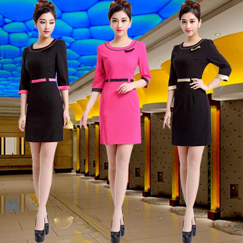 Summer new hotel sauna beauty technician stewardess uniforms overalls suit foot foot spa technician overalls female
