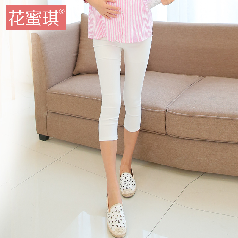Summer new pant thin section of pregnant women care belly pants summer and autumn outer wear leggings pants casual pants feet pregnant mother