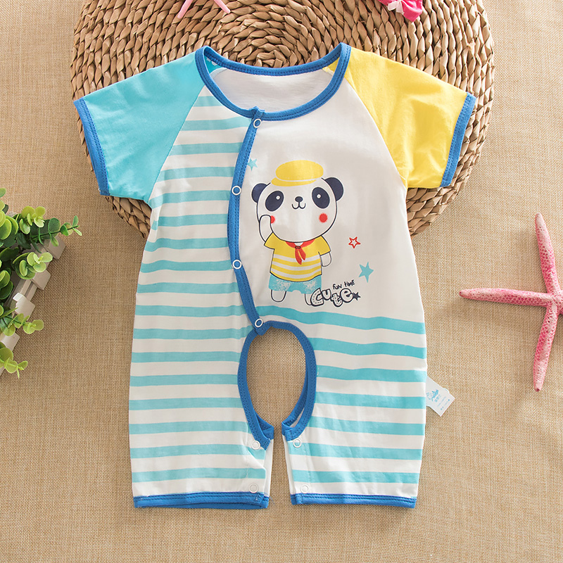 Summer sleeve cotton baby infant short sleeve leotard romper jumpsuit romper baby out clothes kazakhstan