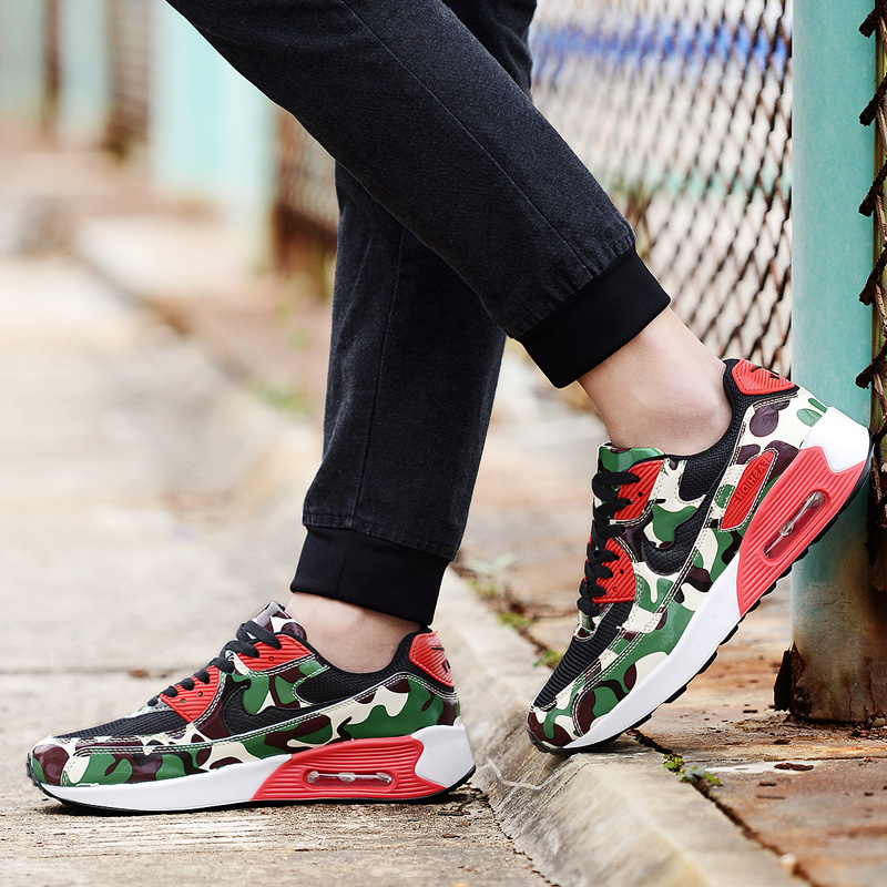 Summer sports and leisure shoes men shoes korean version of breathable mesh shoes mesh shoes men shoes increased within camouflage qidianxie