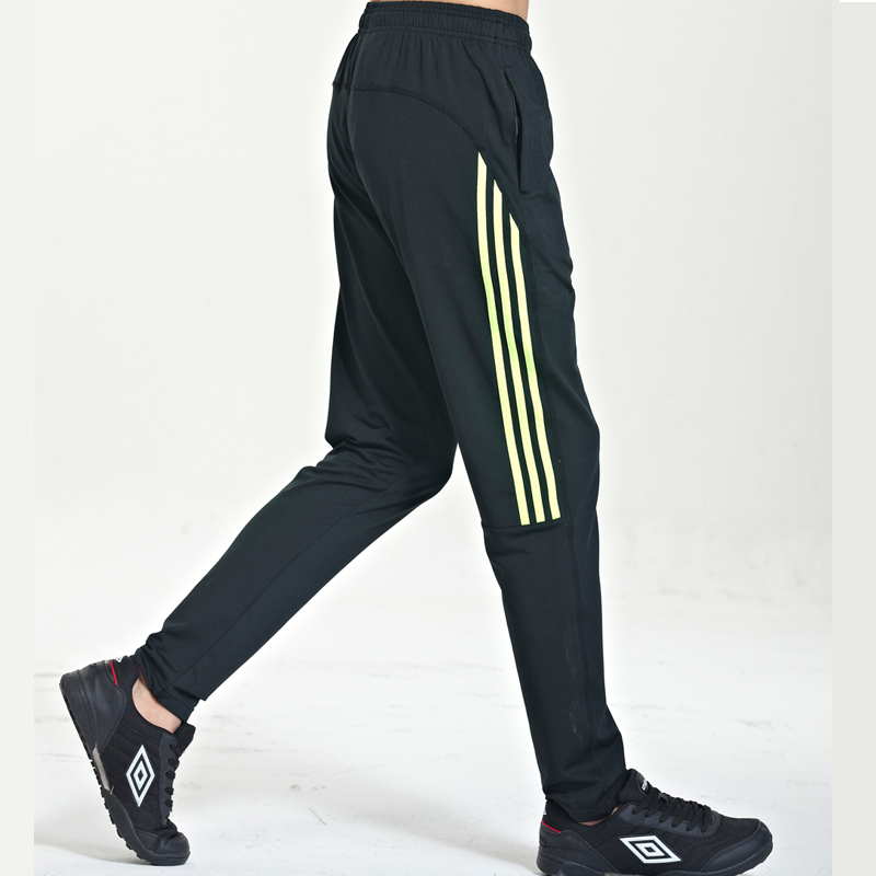 Summer thin legs running fitness male sports pants zipper pocket pants sugan soccer training pants pants pants feet spring