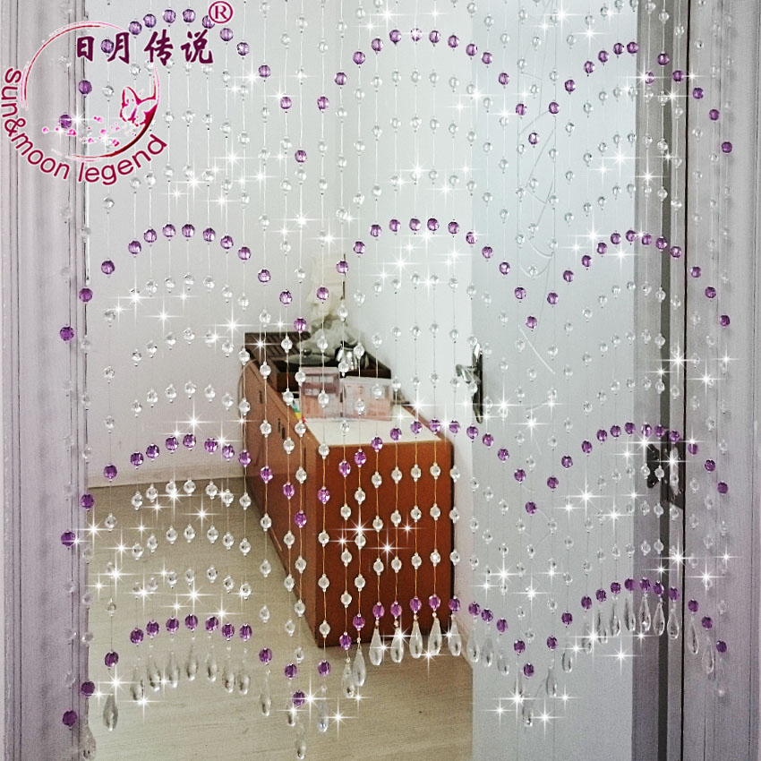 Sun and moon legend <ling quan> style decorative acrylic crystal bead curtain off the entrance curtain bedroom feng shui curtain curtain