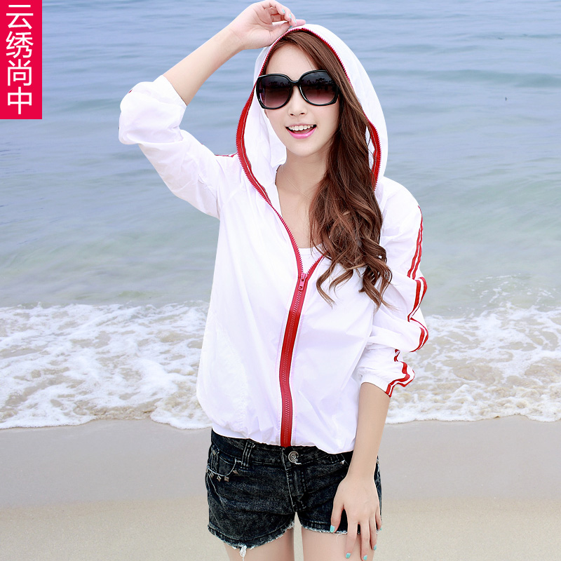 580f009cc6 Get Quotations · Sun protection clothing female summer 2016 new thin section  ladies short coat big yards long sleeve