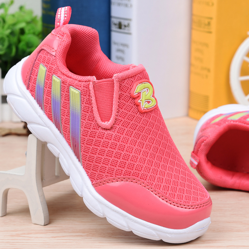Super cool girls shoes sneakers 2016 new wave of genuine girl child in spring and autumn breathable mesh shoes sports shoes