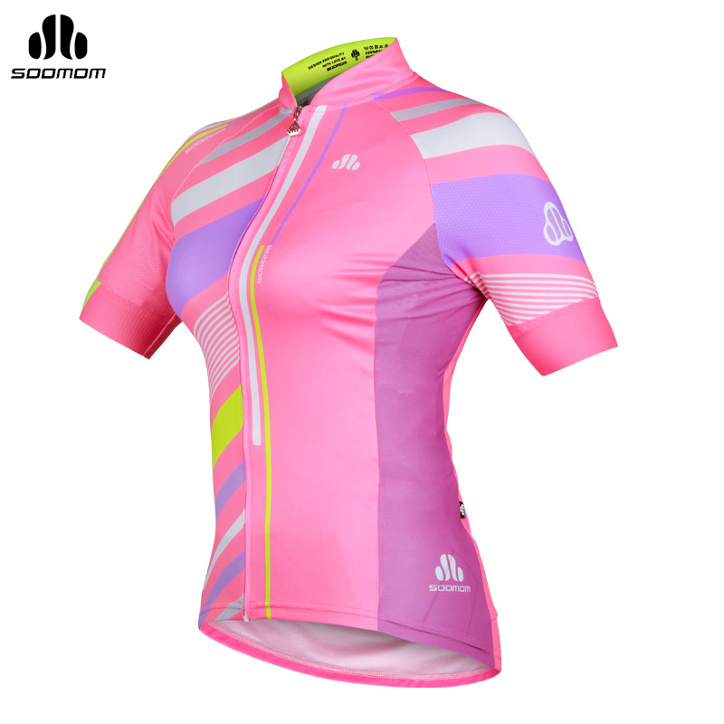 Super league lance sobike 2015 summer short sleeve bike jersey woman riding a bicycle equipped with kate