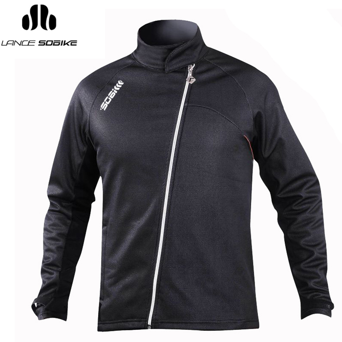 Super league lance sobike winter fleece long sleeve cycling jersey male bike clothing cycling clothes coat cook