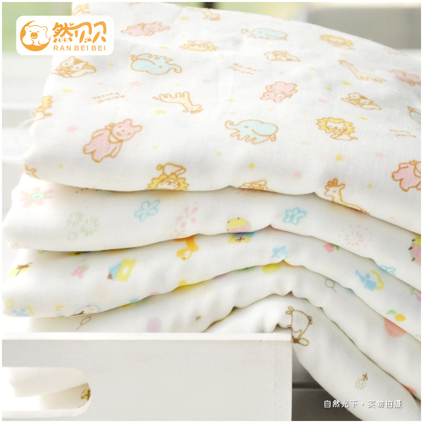 Super soft bamboo fiber double cotton fabric/small animals/baby bath towel across the hanjin garment fabric diapers