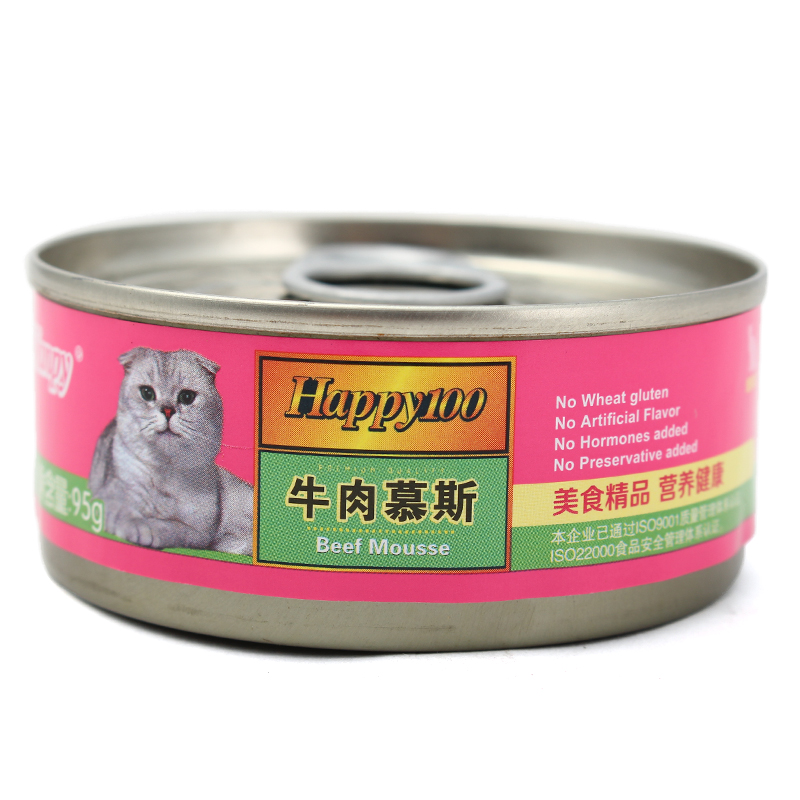 [Supermarket] lynx 95g naughty cat canned cat canned beef mousse wet cat food cat snacks Canned