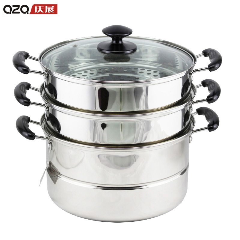 [Supermarket] lynx celebrate exhibition stainless steel steamer three multifunction steamer pot steamed buns new listing