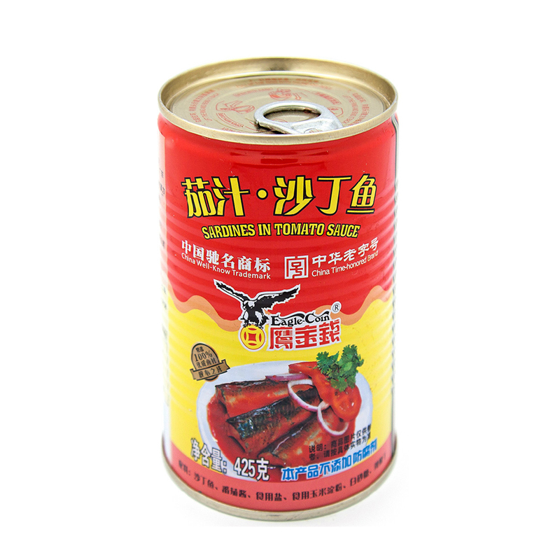 [Supermarket] lynx eagle coin eagle coin canned sardines in tomato sauce 425g cans ready