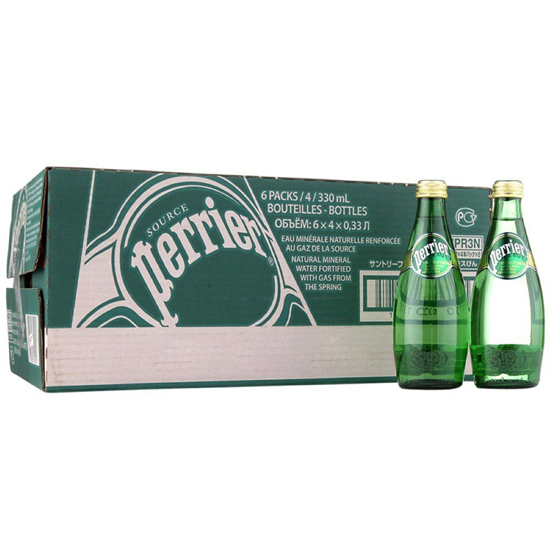 [Supermarket] lynx imported from france perrier/paris plain mineral water 330 ml * 24/box