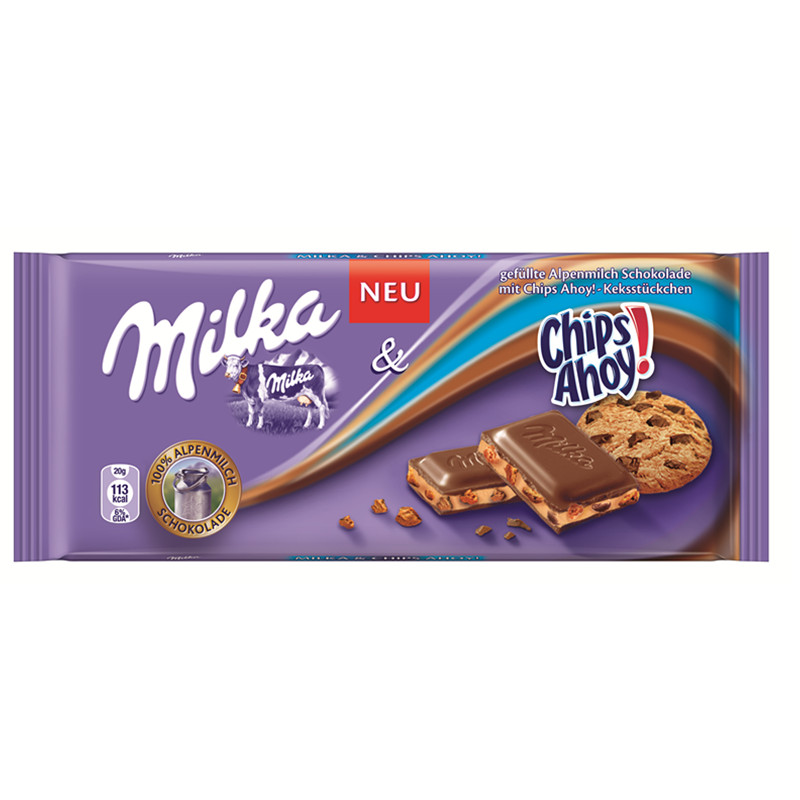 [Supermarket] lynx imported from germany mika milka ahoy chocolate sandwich 1 00g/small bags of snacks