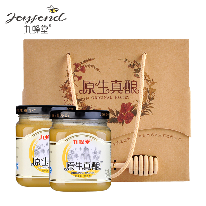 [Supermarket] lynx nine tong bee native flowers really stuffed natural flowers honey 350g * 2 exquisite new year gift