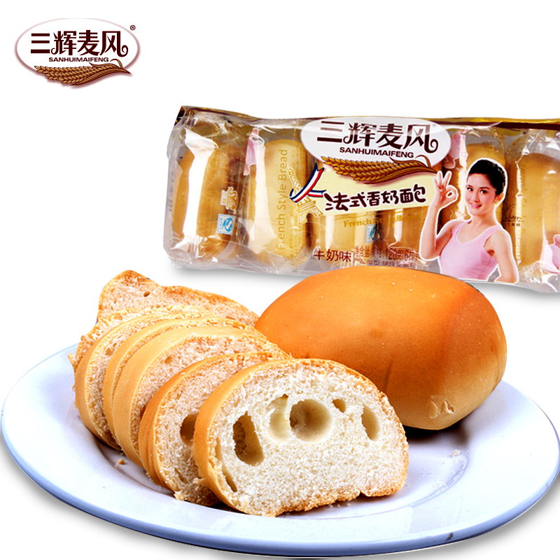 [Supermarket] lynx three fai mak wind french bread and milk 120g/bag fragrant pastry breakfast snack essential