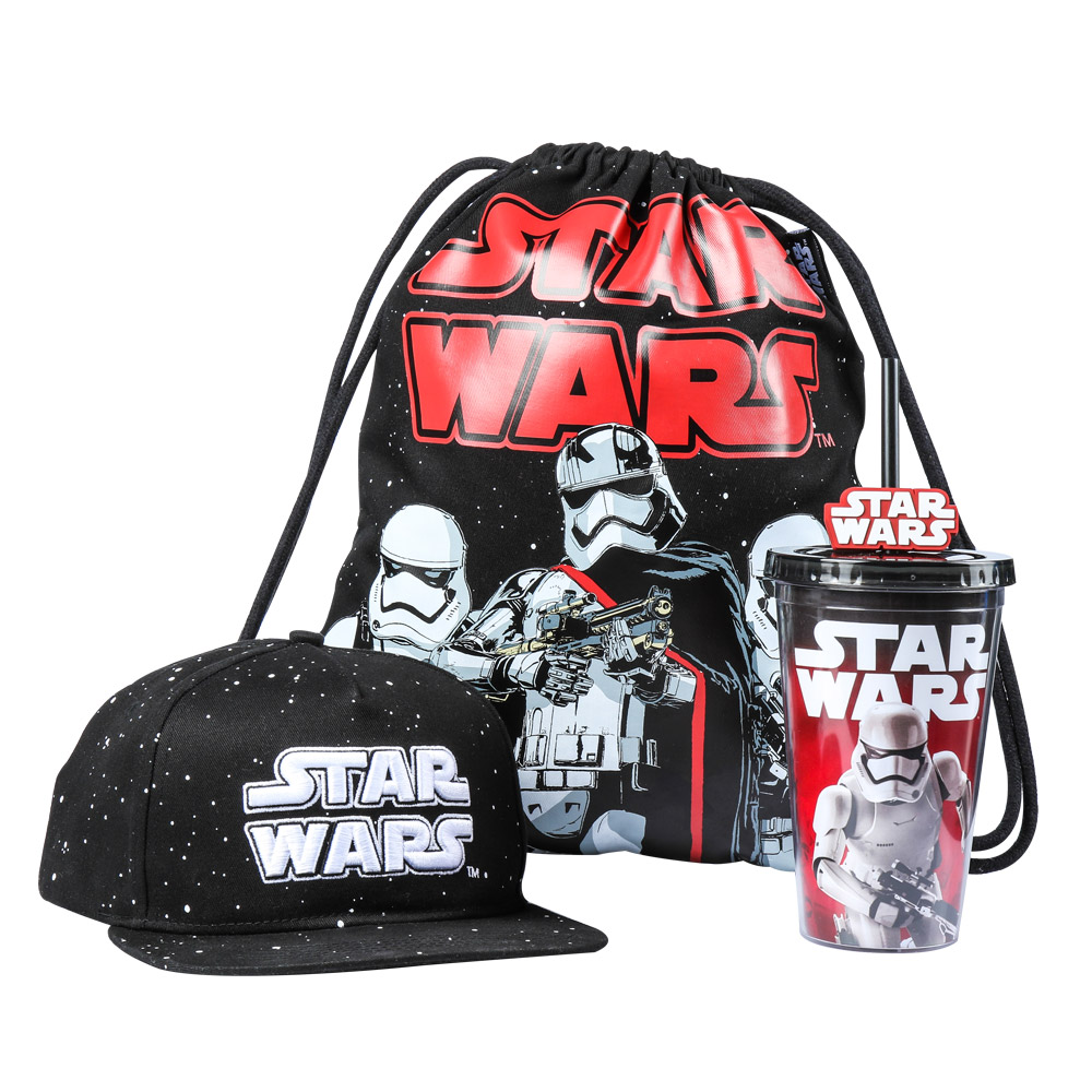 Surrounding the star wars star wars 7 portable travel kit flat brimmed hat/drawstring bag/straw cup three sets