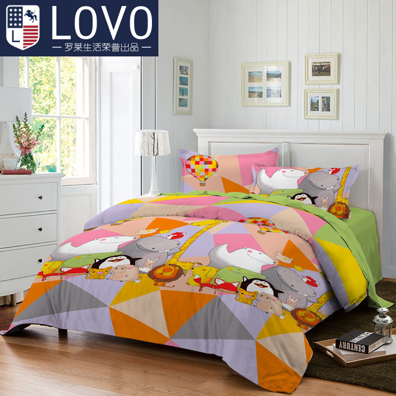 Survivin music i company produced carolina textile bedding cotton bed linen quilt three/family of four meng pet collection