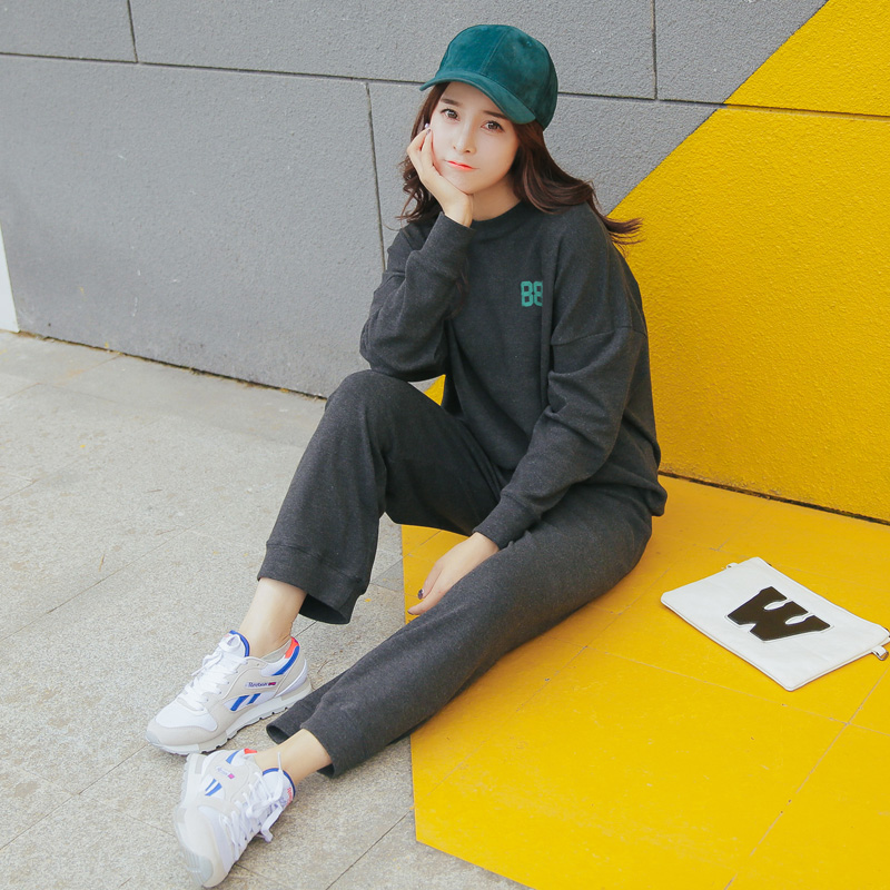 Sweater female korean student influx of korean loose track suit 2016 autumn was thin piece pants ulzzang