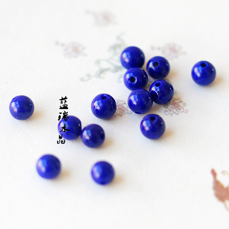 Swiss blue colors of lapis lazuli 5a imperial blue lapis lazuli loose beads jewelry accessories diy single bead loose beads