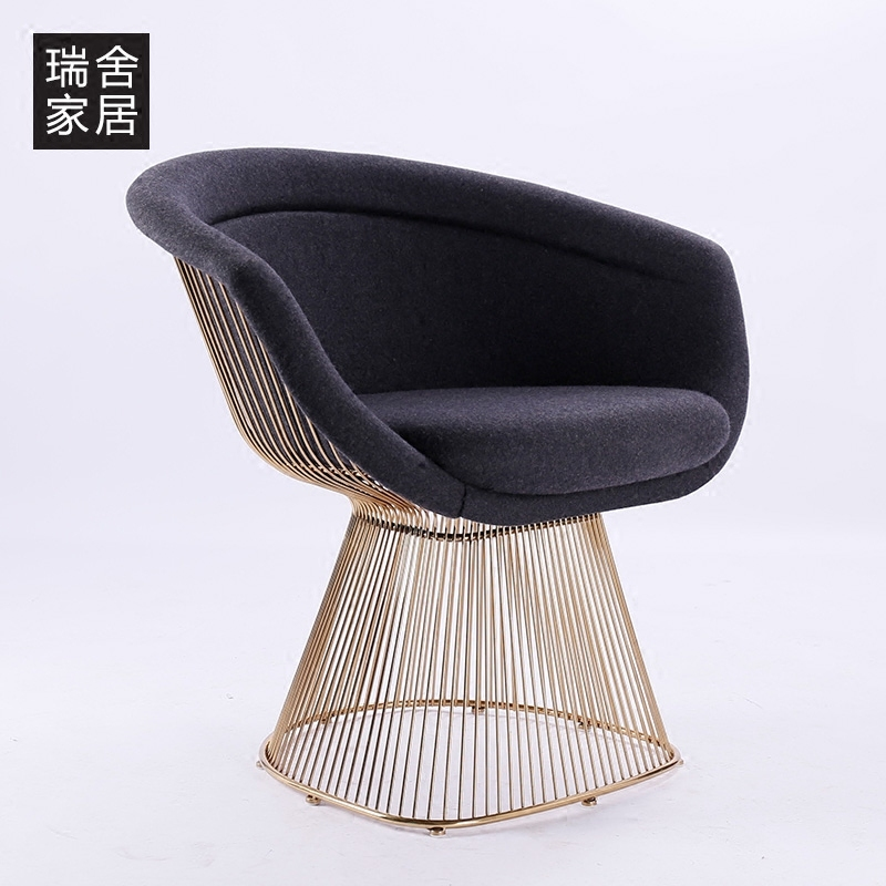 Swiss homes gold-plated wrought iron chair lounge chair chair minimalist modern lounge chair design chair cafe chair new