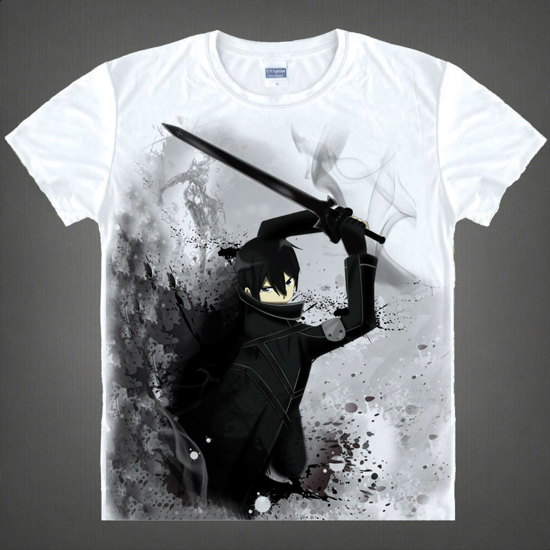 Sword art online sword art online asuna kazuto short sleeve t-shirt around japan 09