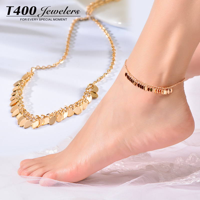 tone and anklet silver two gold content anklets payal fancy plated ad golusu fashion